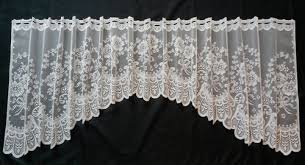Lace Valance Curtains Debra Shaped Lace Valance Albert S Window Fashions