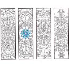 winter mandala bookmarks candyhippie coloring pages