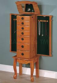 Jewelry Armoire Ikea Furniture Oak Wall Mount Jewelry Armoire Mirror With Single Door