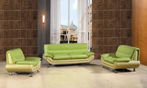 Two Tone Living Room Walls by Get Your Living Space A Nice Color Splash With Cool Green Sofa