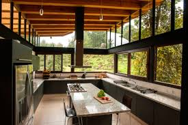 kitchen island breakfast bar stunning home in valle de bravo mexico