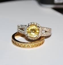 yellow gold wedding band with white gold engagement ring show me your yellow gold engagement and wedding rings purseforum
