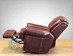 barcalounger regency ii leather rocker recliner chair