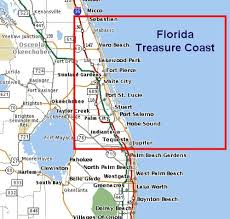 map of florida showing treasure coast search stuart