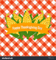 thanksgiving day corn cob seamless pattern stock vector 521473747