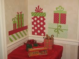 homemade christmas wall decorations wall christmas presents