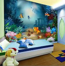 online get cheap wall paper bedroom ocean aliexpress com wallpaper cartoon non woven children room self adhesive bedroom tv background wall mural wallpaper