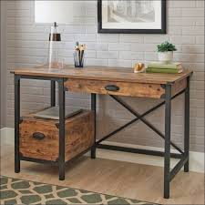 Metal Desks For Office Living Room Awesome Rustic Wood And Metal Desk Office Regarding