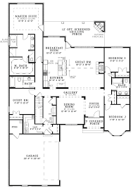 enchanting 4 bedroom open floor plan with concept ranch home plans