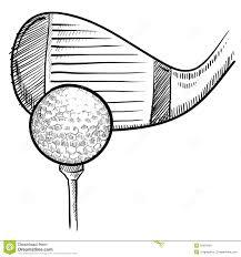 golf ball sketch stock vector image of score champion 22354445