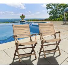 amazonia hudson teak folding armchairs set of 2 bj s wholesale club