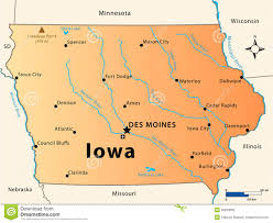 Map Of Usa With Rivers by Iowa Map Stock Photo Image 36634660