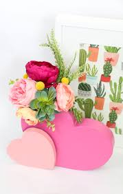 DIY It A Double Heart Flower Vase A Kailo Chic Life
