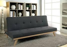 modern futon sofa bed lyra mid century style gray linen adjustable sofa futon