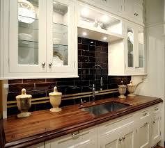 glossed dark brown wooden butchers block countertop on straight glossed dark brown wooden butchers block countertop on straight white kitchen cabinet