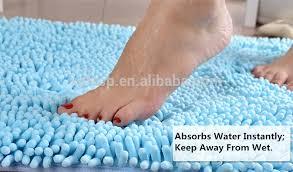 Microfiber Chenille Bath Rug Microfiber Chenille Mat Polyester Chenille Shaggy Mat Polyester