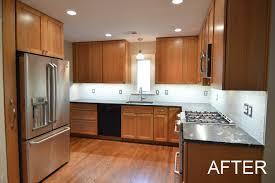warm under cabinet lighting before u0026 after bullseye wood specialties llc