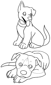 coloring pages puppies terasullen deviantart