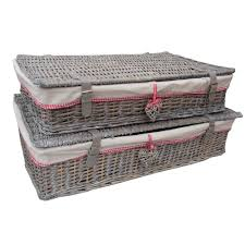 bedroom magnificent underbed storage baskets with wheels