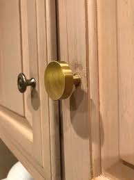 brushed gold cabinet hardware scratches