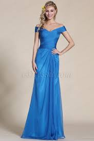 bridesmaid gown shoulder blue bridesmaid dress formal gown 07153705
