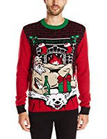 ugly christmas sweaters that light up and sing ugly christmas sweater women s light up santa on polar bear rug at