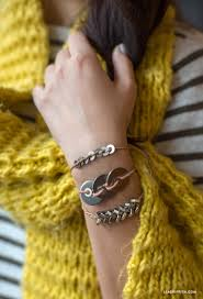 diy metal bracelet images Diy metal washer bracelet lia griffith jpg