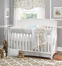 Modern Crib Bedding Liz And Roo Baby Bedding Powder Blue Linen Baby Bedding Suzani