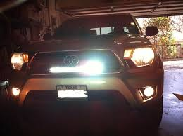 tacoma grill light bar fitting light bar behind grill tacoma world