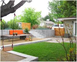 backyards innovative simple corner landscaping ideas applying to