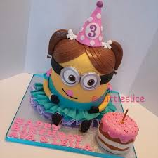 3d cake minion girl 3d cake cakecentral