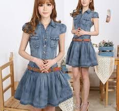 blue jeans skater dress 2014 summer new denim dress women dress