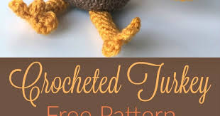 free pattern for a crocheted turkey for a thanksgiving