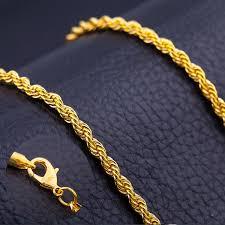 diy men necklace images Men antique gold chains vintage men twisted rope necklace chain jpg