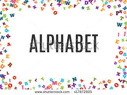abstract black alphabet ornament border isolated stock vector