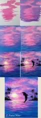 40 easy and simple landscape painting ideas deep blue sea deep