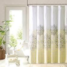Gray Shower Curtains Fabric Delightful Fabric Shower Curtains Glass Window Corner Table Gray