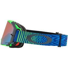 oakley new mx airbrake high oakley airbrake mx shockwave blue green goggle sixstar racing