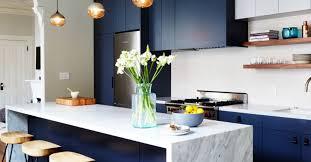 blue kitchen blue kitchen blue kitchens are 2017s latest decor trend mydomaine