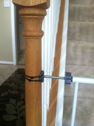 Safety Gate For Top Of Stairs With Banister How To Secure Your Pressure Mounted Baby Gate To A Banister For