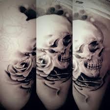 skull and roses healed by littlerock3dd on deviantart