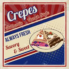 affiche cuisine vintage crêpes affiche dans le style vintage illustration vectorielle clip