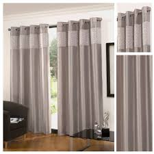 Lined Curtains Glitz Faux Silk Silver Eyelet Lined Curtains By Hamilton Mcbride