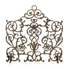 vineyard cast iron scroll fireplace screen frontgate