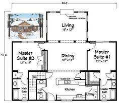 houses with two master bedrooms charming rambler house plans with two master suites 5 plan 13305ww