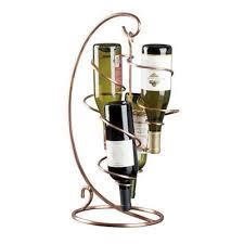 tendril table model countertop wine rack copper wine rack country