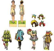 download free printable classic paperdoll template set 1