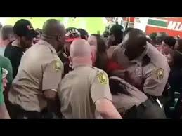 miami fan slaps officer drunk woman who assaulted cop in viral video at miami va tech game