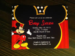top 17 mickey mouse baby shower invitations printable 2017
