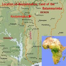 togo location on world map koutammakou togo world heritage